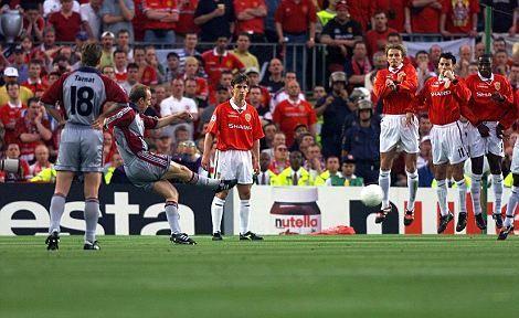 ¿En qué minuto marcó Mario Basler en la final de la champions 1998/99?