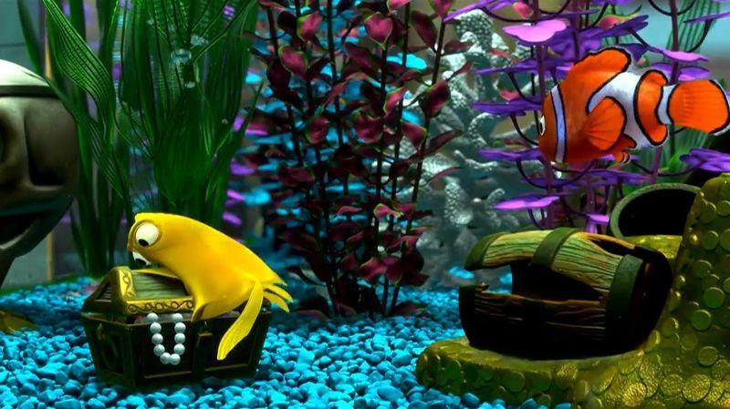 Y este pez amarillo obsesionado con las burbujas, ¿Quien era?