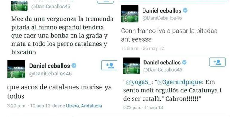 Un hater se identifica desde una red social, Daniel Ceballos es un facha, y a veces pone en un aprieto al Betis, ¿Que opinas?