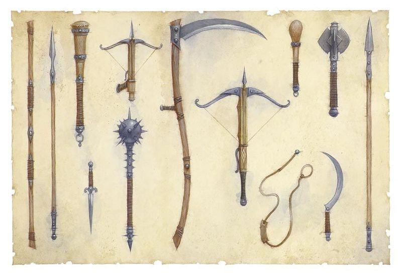 ¡Una feria medieval! Te disfrazas de caballero y debes elegir un arma.
