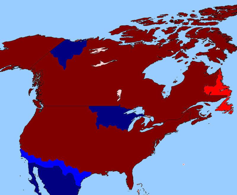¡Sorpresa! México con la ayuda del Reino Unido te invade y encima rebeldes crean una guerra civil en tu imperio americano.