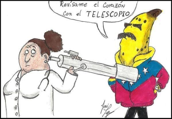 para finalizar... ¿crees que Maduro fue capaz de confundir la función de un telescopio con un estetoscopio?