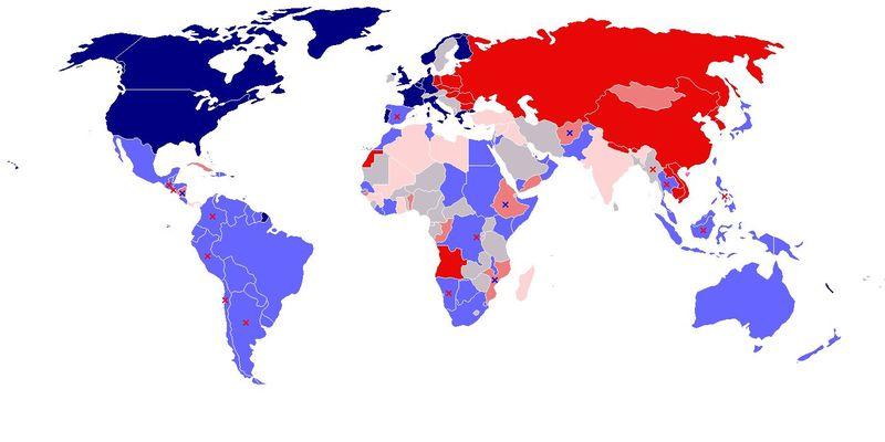 Los países involucrados en la guerra se enfrentan ahora entre sí. Empieza una 2a Guerra fría.