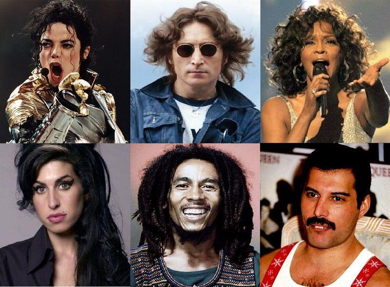 22126 - ¿Qué edad tendrían estos famosos cantantes si estuvieran vivos a día de hoy, año 2016?