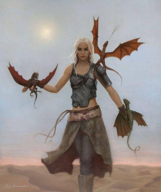 ¿Cómo se llaman los dragones de Daenerys?