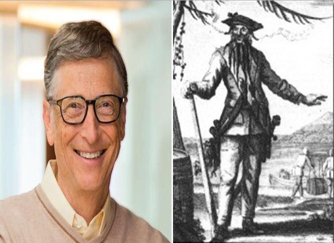 Bill Gates, informático fundador de la empresa Microsoft vs Edward Thatch