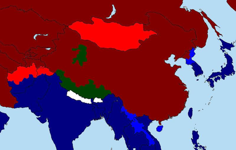 India entra en la guerra. Debido a tu fuerza bruta y tu ingeniería debilitas las tropas chinas. Revolución en el Tibet...
