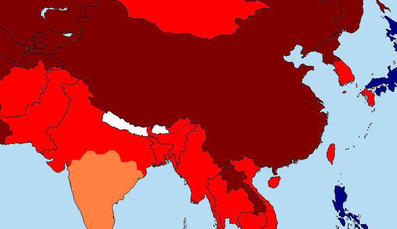 Los Tibetanos piensas que siempre has sido TU su enemigo. Todas las armas dadas las utilizan en tu contra. Asia es China.