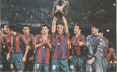 ¿Cuál fue el último equipo que ganó la Recopa europea?