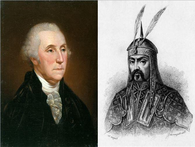 George Washington, primer presidente de los Estados Unidos vs Atila el Huno, bárbaro y gobernador de Europa en el siglo V d.c