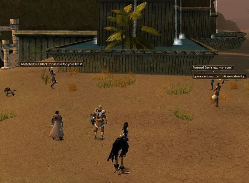 En las Llanuras de Jarin, si llevas un moa negro, Nehdukah huye aterrorizado. ¿Qué le impulsa a huir?