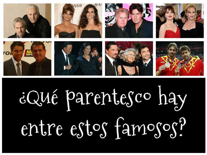 22501 - ¿Qué parentesco hay entre estos famosos?
