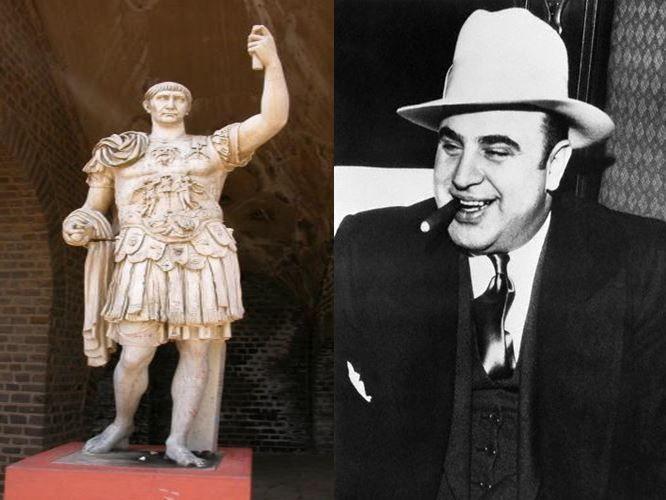 Trajano, considerado de los mejores emperadores de Roma vs Al Capone,el líder del crimen organizado en USA a principios del s.XX