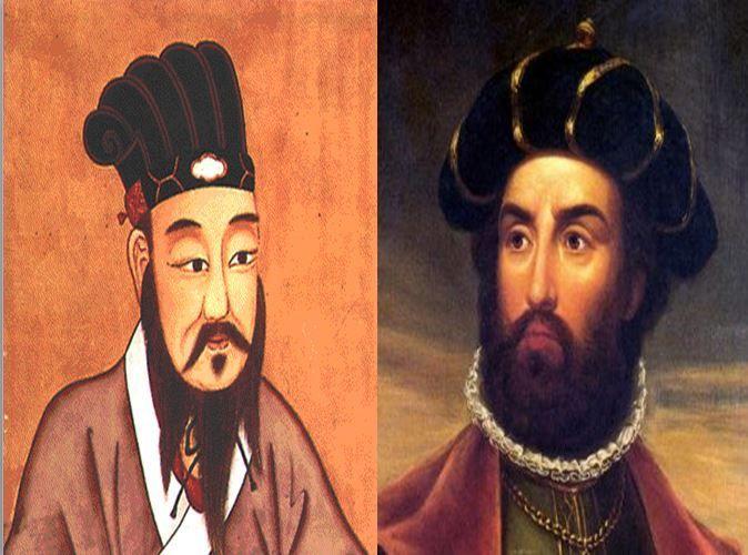 Confucio, filósofo chino vs Vasco Da Gama, explorador portugués y primera persona en cruzar el Pacífico hacia Asia