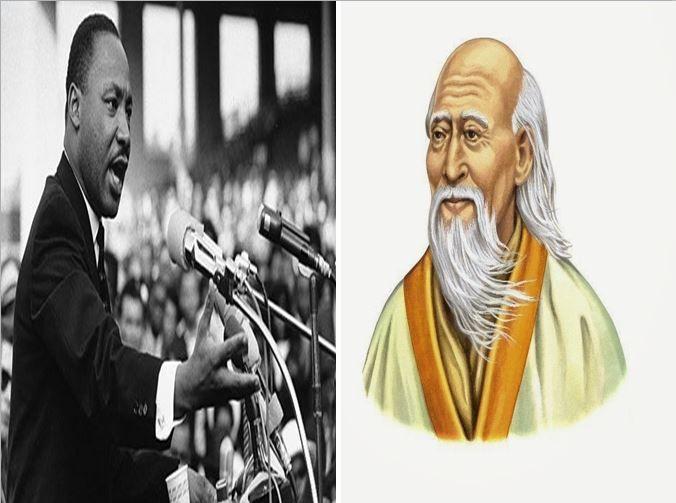 Martin L. King, activista político que luchó por los Derechos Humanos vs Lao-Tse, muy importante filósofo chino