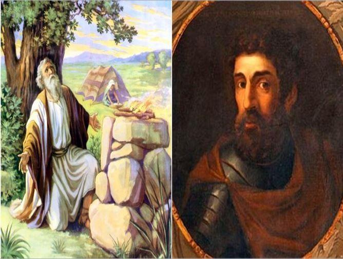 Abraham, patriarca y profeta del judaísmo vs William Wallace, guerrero escocés que lucho por la libertad de Escocia