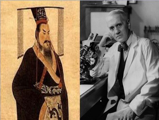 Qin Shin Huang, primer emperador chino vs Alexander Fleming, descubridor de la penicilina