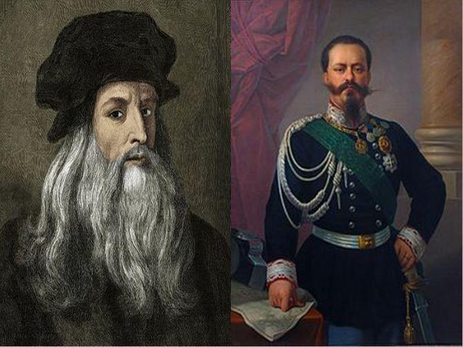 Leonardo Da Vinci, sabio italiano del Renacimiento vs Victor Manuel II, rey italiano responsable de la unificación de Italia