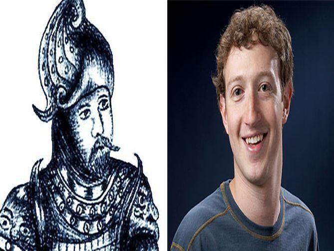 Erik el Rojo, vikingo que descubrió Groenlandia vs Mark Zuckerberg, creador de Facebook