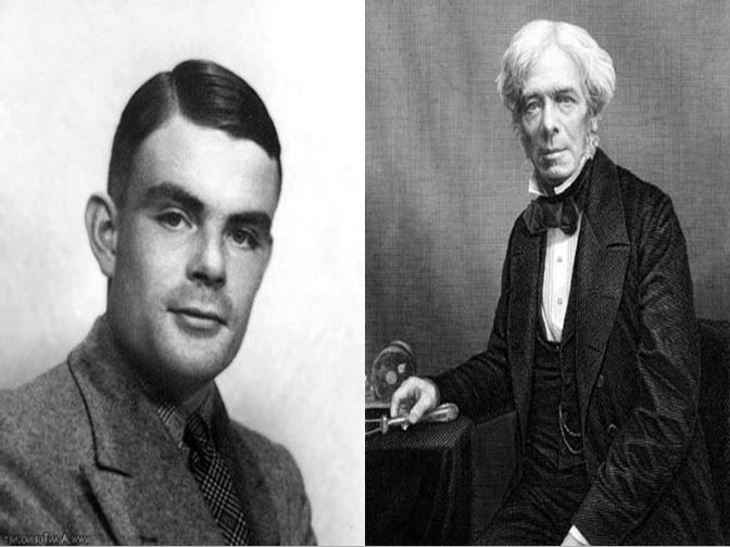 Alan Turing, considerado padre de la informática vs Michael Faraday, electroquímico descubridor de la electrolisis
