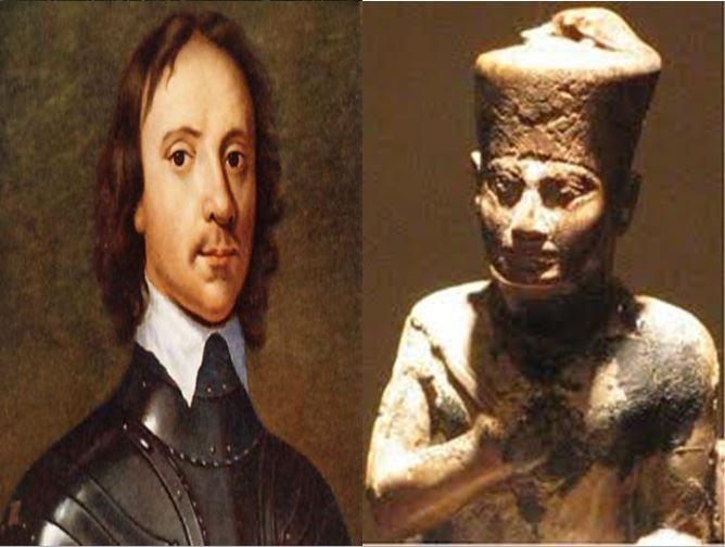 Oliver Cromwell, político que convirtió Inglaterra en República vs Keops, faraón que mandó la construcción de Las Pirámides