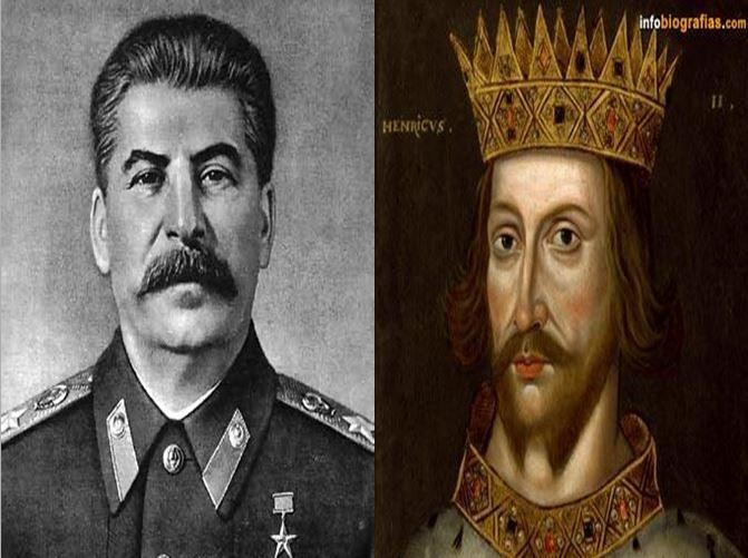 Iósif Stalin, dictador soviético durante la IIGM vs Guillermo I, rey más poderoso de Inglaterra, de origen normando