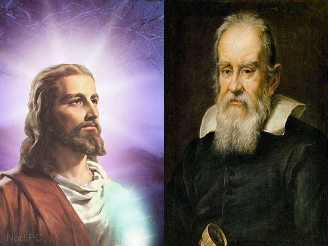 Jesuscristo, principal profeta del cristianismo vs Galileo Galilei, padre de la astronomía y física modernas