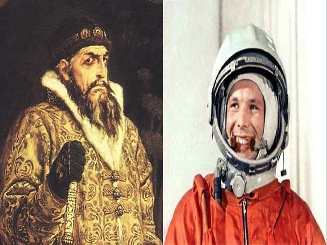 Iván El Terrible, primer zar ruso vs Yuri Gagarin, primer hombre en el espacio