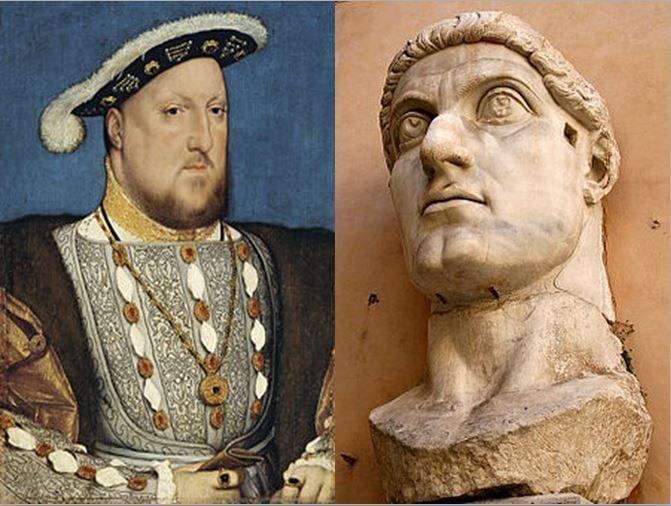 Enrique VIII, fundador de la religión anglicana vs Constantino I, fundador de Constatinopla e impulsor del cristianismo ortodoxo