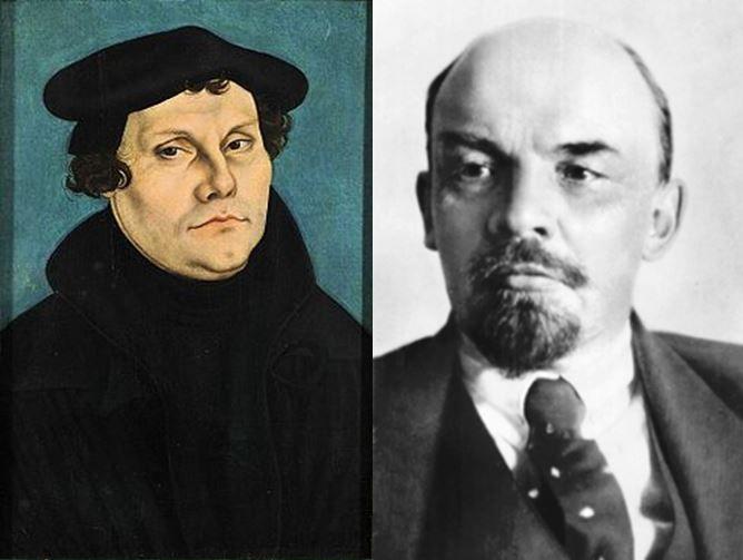 Martín Lutero, fundador de la religión protestante vs Lenin, principal dirigente de la Revolución Rusa