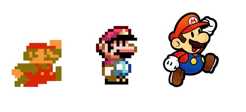 22602 - ¿Sabrías reconocer el juego de Super Mario al que pertenece cada versión del fontanero? (Difícil)