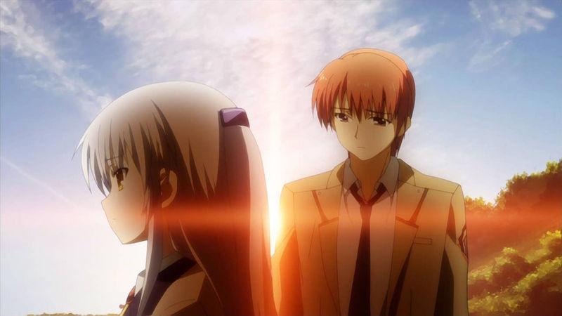 La despedida entre Tachibana y Otonashi en Angel beats