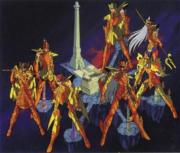 ¿Qué caballeros derrotaron a dos Generales Marinas durante la saga de poseidón?
