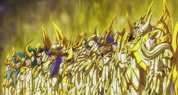 En SS Soul of Gold. ¿Qué santos dorados no enfrentaron directamente a un God Warrior?