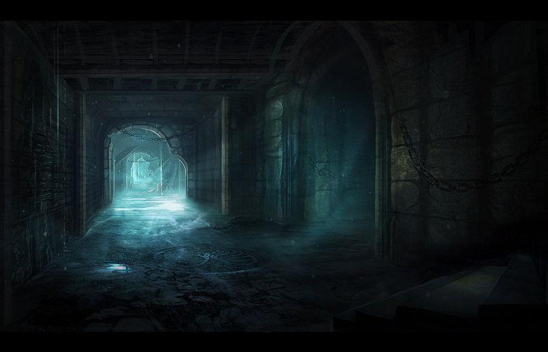 El silencio y la oscuridad se van apoderando del entorno, excepto por vuestras pisadas y antorchas.