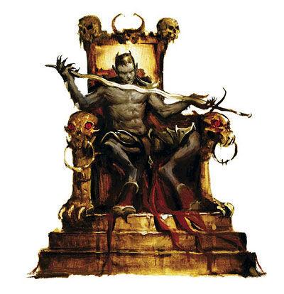La sangre, verde y roja, se mezcla a vuestra espalda. Abrís la puerta y encontráis una figura en un trono.