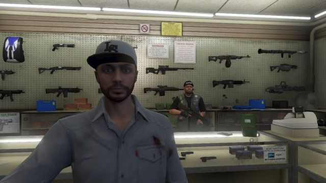 El dependiente del Ammunation pensó que lo ibas a matar y te ha abatido a tiros.