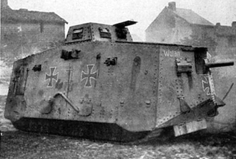 El Reino Unido no fue el único que usó tanques en la Gran Guerra. ¿A qué facción pertenecía el blindado de la foto?