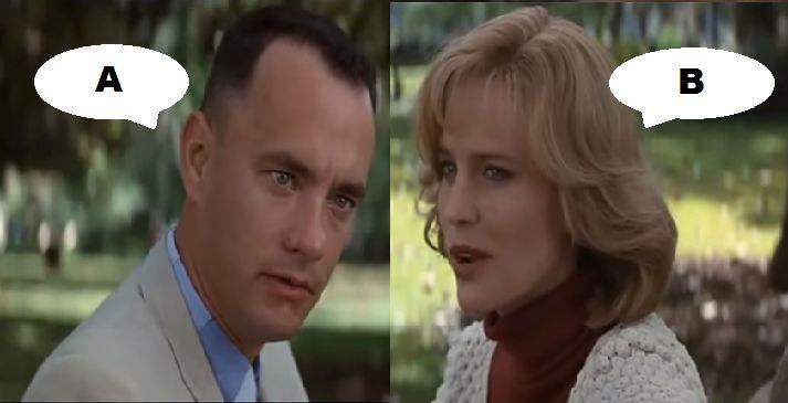¿Qué dicen en esta escena en Forrest Gump (1994)?
