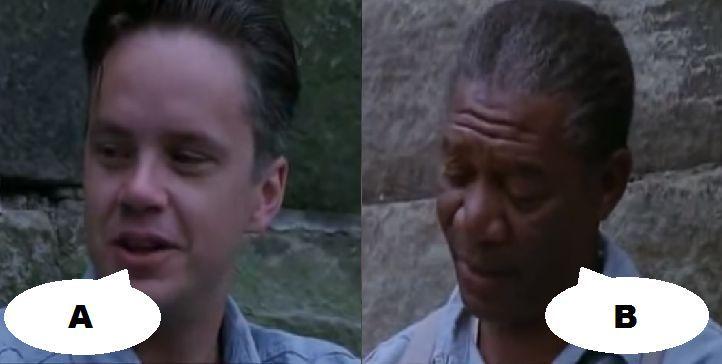 ¿Qué dicen en esta escena en Cadena perpetua (1994)?