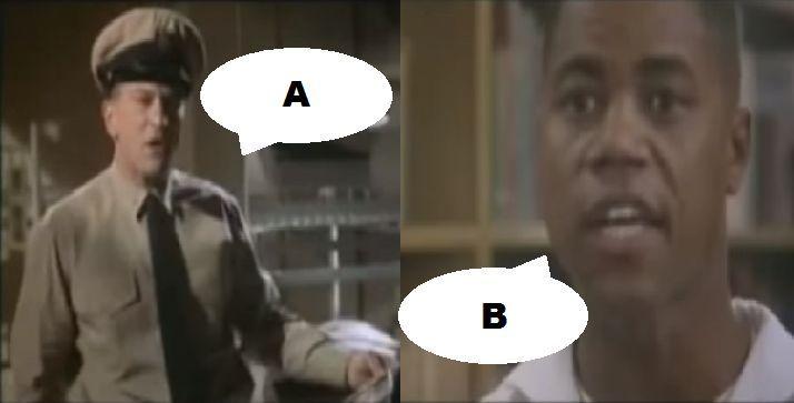 ¿Qué dicen en esta escena en Hombres de honor (2000)?