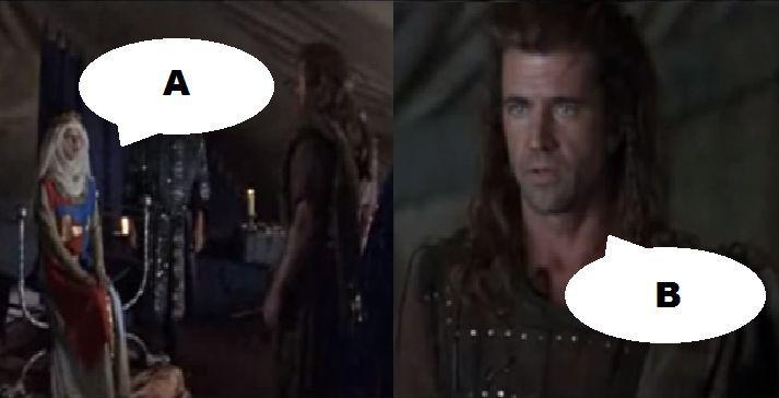 ¿Qué dicen en esta escena en Braveheart (1995)?
