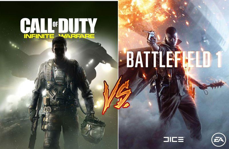¿Qué tiene más resultados? ¿Battlefield o Call of Duty?