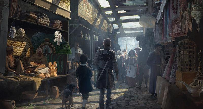 (VIII) Te encuentras en el mercado, se trata de un enorme entramado de calles con tenderetes y locales por igual