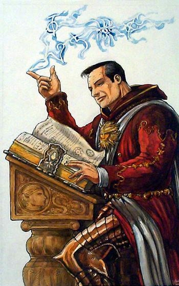 (XIII) Al salir de la iglesia un sacerdote del Padre Firmamento te llama. -¿Quieres Ganar un dinero, hijo?