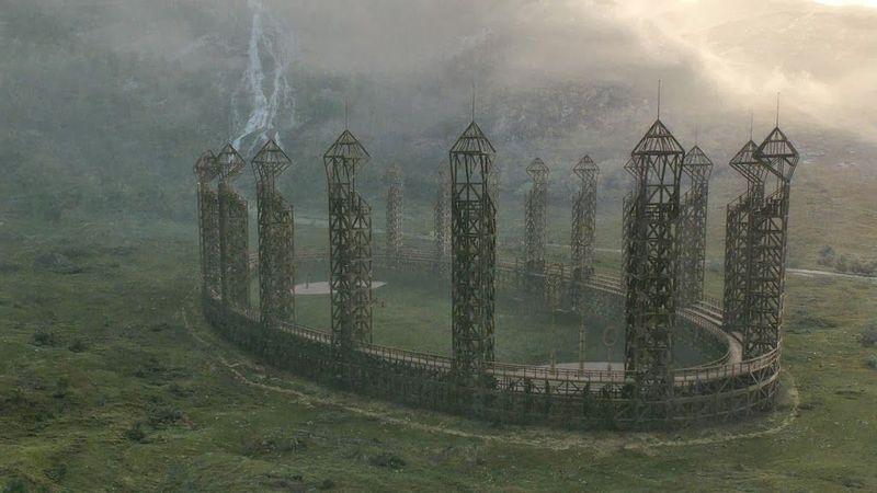 Asistes a un partido de quidditch, ¿desde dónde lo ves?