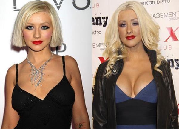 Christina Aguilera (aumento de pecho)