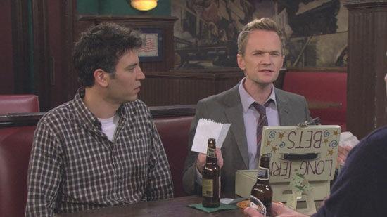 ¿Cuál de las siguientes no es una apuesta hecha entre Lily y Marshall para su caja de