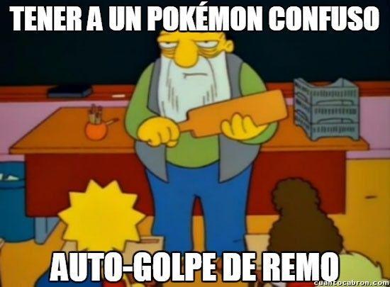 Qué Pokemon está en mayor peligro cuando entra en estado de confusión?