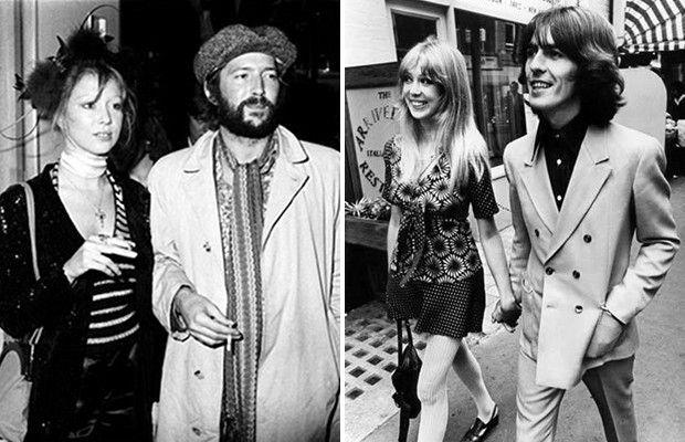 Y pensar que eran grandes amigos... Esta rivalidad surgió por el amor de Clapton hacia la esposa de Harrison